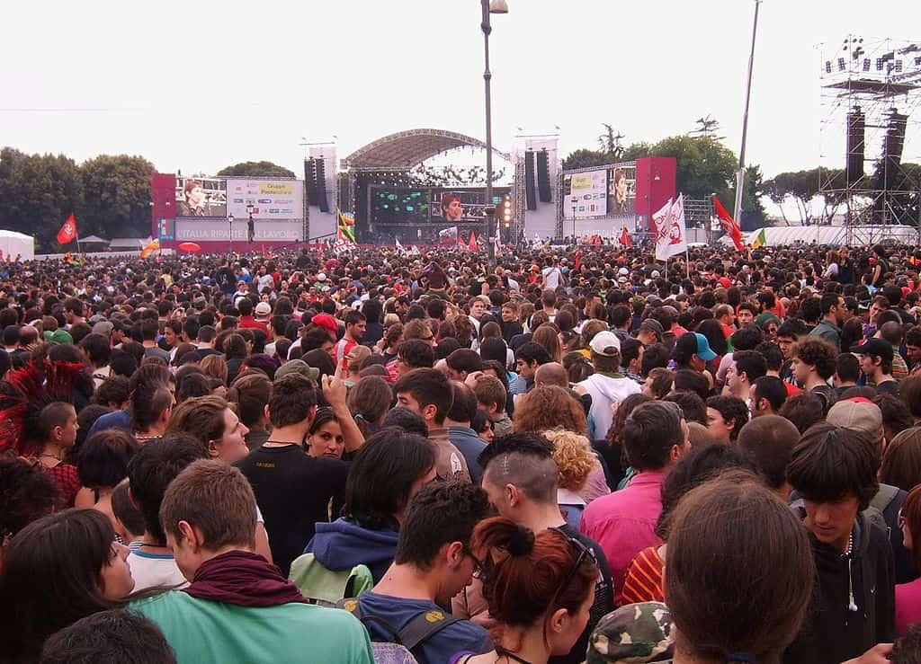 1 maggio in Italia concerto
