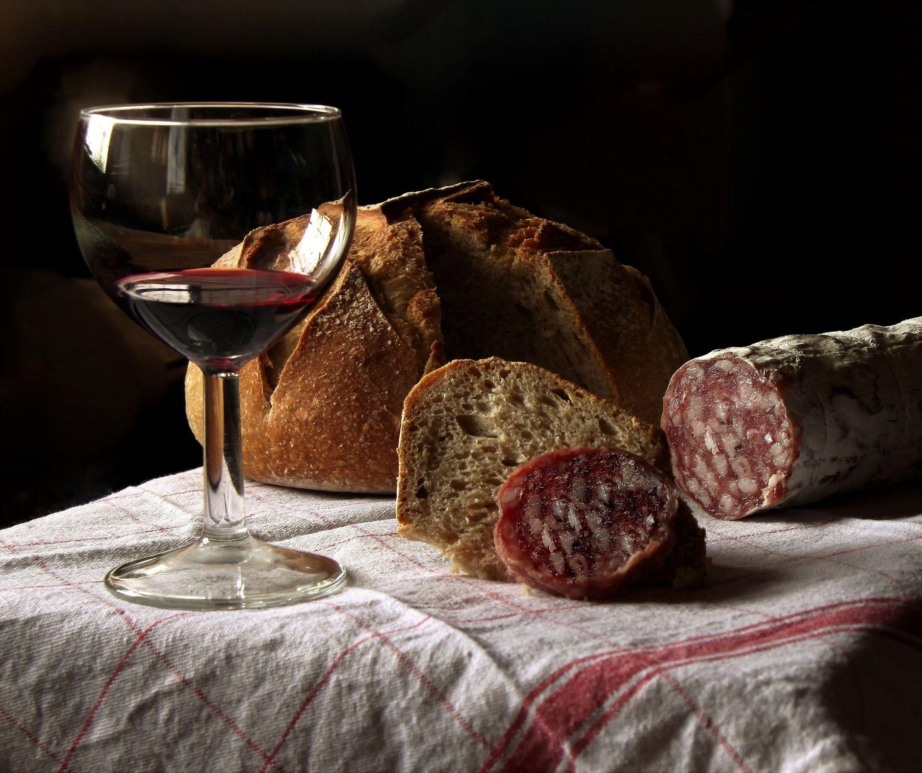 modi di dire sul cibo: vino e pane